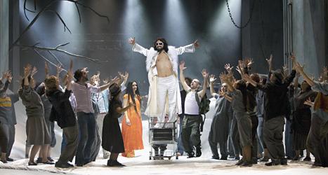 Ola Salo spelar Jesus i musikalen Jesus Christ Superstar. Foto: Stig-Åke Jönsson/Scanpix.