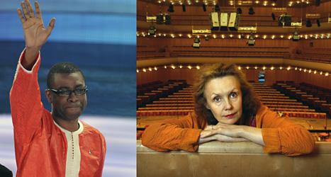 Youssou N'Dour och Kaija Saariaho får Polarpris. Foto. Alberto Pellaschiar och Dan Hansson/Scanpix.