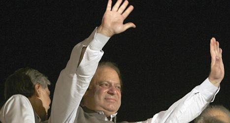 Nawaz Sharif och hans parti vann valet i Pakistan. Foto: K.M Chaudary/Scanpix.