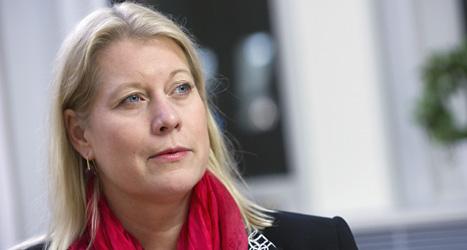 Catharina Elmsäter-Swärd är regeringens minister för trafik. Foto: Bertil Ericson/Scanpix.