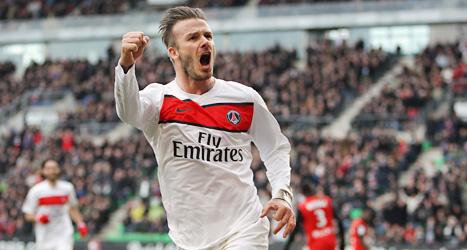 David Beckhham ska sluta med fotbollen. Foto: David Vincent/Scanpix.