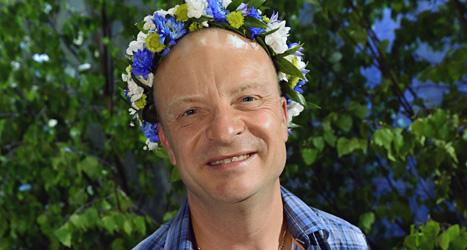 Författaren Jonas Gardell är den första som pratar i radioprogrammet Sommar i år. Foto:Claudio Bresciani/Scanpix