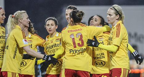 Tyresö leder damallsvenska i fotboll. Foto: Jessica Gow/Scanpix