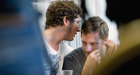 Jesper Heed och Daniel Olsson är chefer för Peace & Love. De var ledsna när de berättade att festivalen stoppas. Foto: Tron/Scanpix