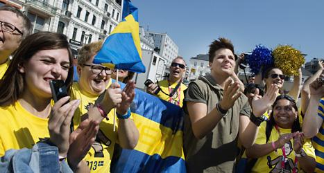 Robin Stjernberg träffar sina fans i Malmö. Foto: Jessica Gow/Scanpix