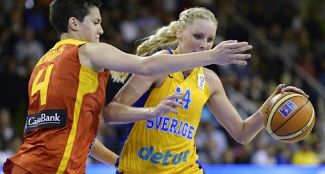 Spanien vann över Sverige i EM. Foto: Janerik Henriksson/Scanpix.