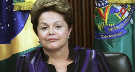 Dilma Rousseff är Brasiliens president. Foto. Eraldo Peres/Scanpix.