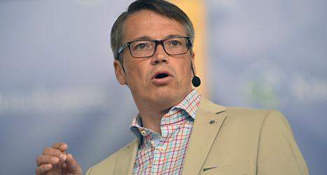 Kristdemokraternas ledare Göran Hägglund talar i Almedalen på Gotland. Foto: Henrik Montgomery/Scanpix.
