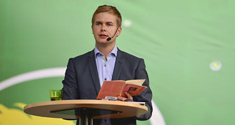 Gustav Fridolin en av Miljöpartiets två partiledare. Foto: Henrik Montgomery/Scanpix.