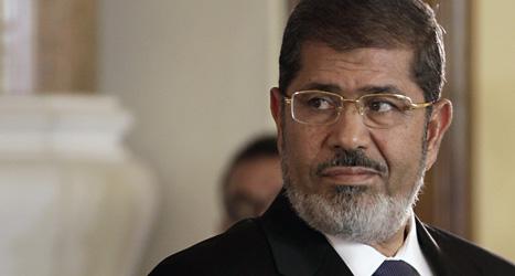 Muhammad Mursi är inte längre Egyptens president.  Militären tvingade honom att sluta. Foto: Maya Alleruzo/Scanpix.