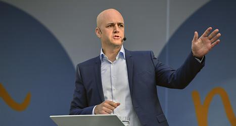 Fredrik Reinfeldt lovade att Moderaterna aldrig ska samarbeta med partiet Sverigedemokraterna. Foto: Scanpix