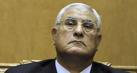 Adli mansour ska styra Egypten tills det har varit ett nytt val i landet. Foto: Amr Nabil/Scanpix.