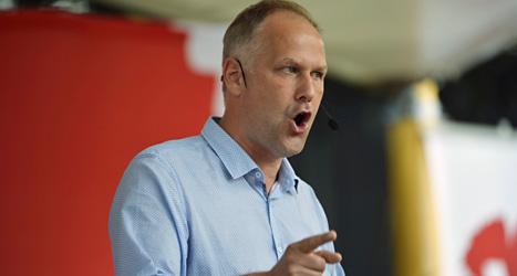 Jonas Sjöstedt är ledare för Vänsterpartiet. Foto: Henrik Montgomery/Scanpix.