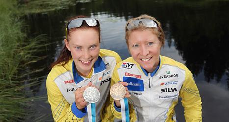 Tove Alexandersson och Lena Eliasson tog medaljer i VM. Foto: Scanpix.