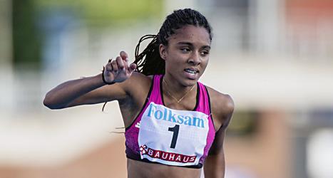 Irene Ekelund är Sveriges snabbaste löpare. Foto: Christine Olsson/Scanpix.