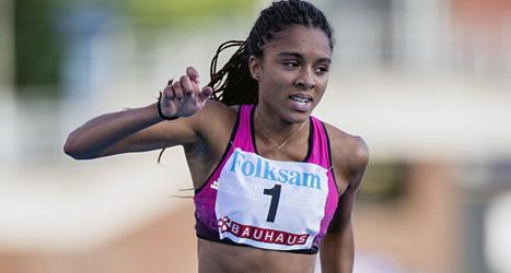 Irene Ekelund vann Sveriges första VM-guld i sprintlöpning. Foto: Christin Olsson/Scanpix.