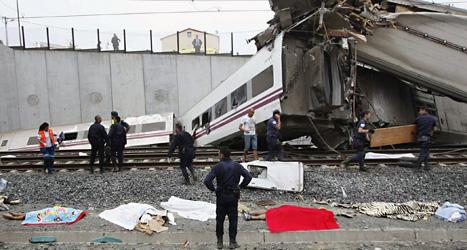 Minst 77 människor dödades när tåget kraschade. Foto: Antonio Hernendez/Scanpix.