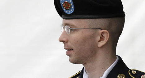 Bradley Manning straffas för att berättade om Militärernas hemligheter. Foto: Patrick Savarsky/Scanpix