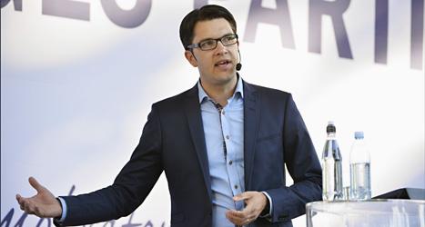 Sverigedemokraternas ledare Jimmie Åkesson pratade i Almedalen på måndagen.