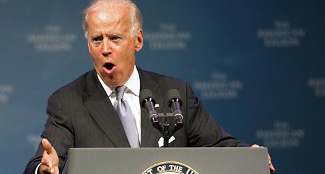 Joe Biden är USAs vice president. Han säger att USA vet att Syriens regering använt kemiska vapen. Foto: Johnny Hanson/AP/Scanpix.