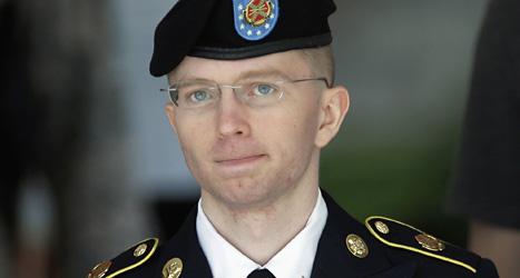 Soldaten Bradley Manning kommer att sitta i fängelse i många år. Foto: Patrick Semansky/AP/Scanpix.