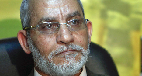 Muhammad Badie togs till fånga av militärerna. De säger att han är terrorist. Foto: Nasser Nasser /Scanpix