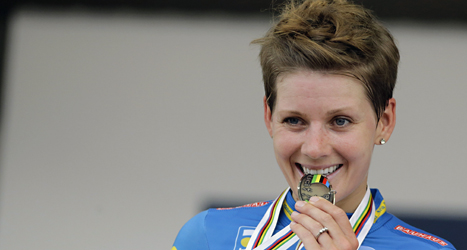 Emma Johansson tog silver i cykel-VM. Foto: Luca Bruno/Scanpix.