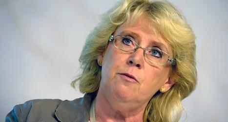 Sveriges miljöminister Lena Ek säger att det finns tillräckligt många vargar i Sverige. Foto: Janerik Henriksson/Scanpix.