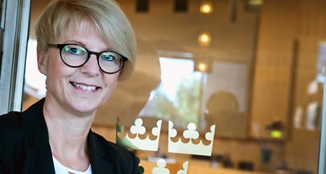 Elisabeth Svantesson blir regeringens nya arbetsmarknadsminister.  Foto: Lars Pehrsson/Scanpix.