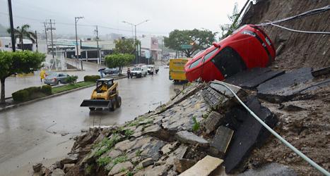 Minst 50 människor dog i översvämningarna i Mexiko. Foto: Bernandino Hernandez/Scanpix.