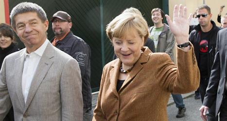 Angela Merkels parti vann valet i Tyskland. Men det är inte klart hur den nya regeringen ska se ut. Foto: Gero Breloer/Scanpix.