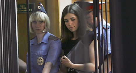 Nadezjda Tolokonnikova hungerstrejkar i fängelset. Foto: AP/Scanpix.