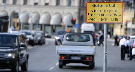 Stora delar av Stockholm stängs av när Obama besöker Sverige. Foto.Bertil Enevåg/Scanpix.