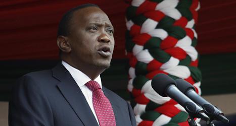 Kenyas president Uhuru Kenyatta kan dömas för brott mot mänskligheten. Foto: Khalil Senos/Scanpix.