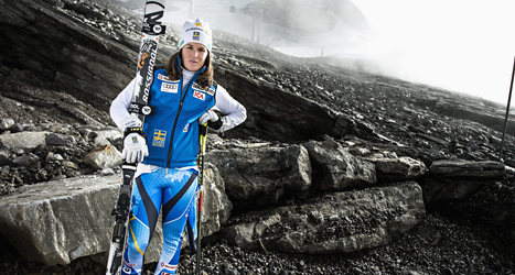 Slalomåkaren Maria Pietilä Holmner är frisk och kan träna för fullt. Foto: Pontus Lundahl/TT