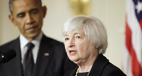 Janet Yellen blir chef för USAs mäktiga riksbank. Det är första gången som en kvinna får det jobbet. Foto: Pablo Martinez Monsivais/TT