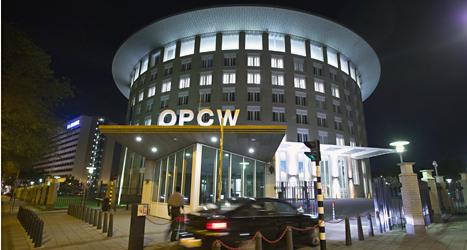 OPCW har sitt kontor i Haag I Nederländerna. Foto: Peter Dejong/TT