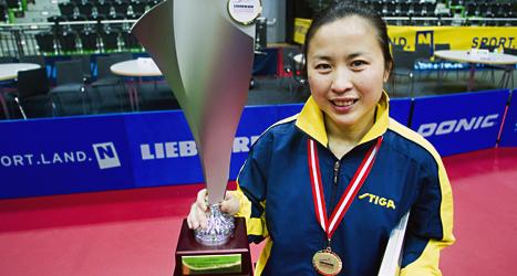 Li Fen från Sverige vann EM-guld. Foto: Emil Eiman Roslund/TT