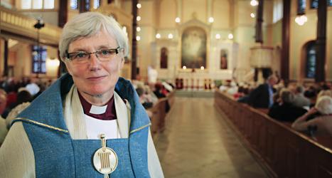 Antje Jackelén har blivit vald till ny ärkebiskop i Sverige. Foto: Stig-Åke Jönsson/Scanpix.
