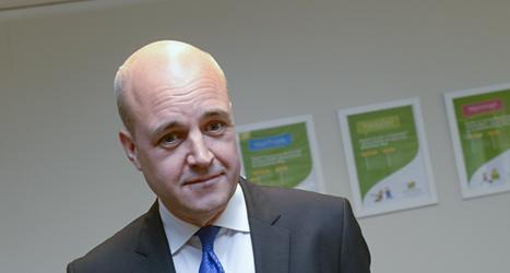 Fredrik Reinfeldt säger att skattesänkningen nästa år kan bli  den sista på ett tag. Foto: Bertil Enevåg Ericson/TT