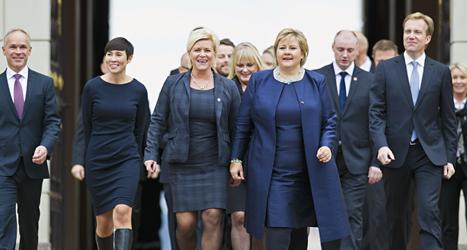 Norge har fått en ny regering. Foto: Vegard Grött/TT.