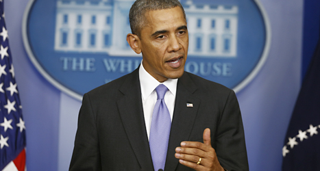 USAs president Barack Obama. Foto: Charles Dharapak/TT.