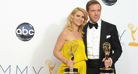 Claire Danes och Damien Lewis har fått pris för sina huvudroller i tv-serien Homeland. Foto: Jordan Strauss/TT