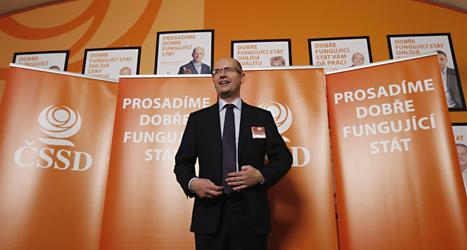 Bohoslav Sobotka är ledare för Socialdemokraterna i Tjeckien. Foto: Petr David Josek/TT.