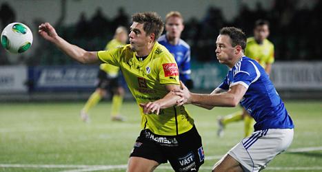 Kvalmatchen mellan Sundsvall och Halmstad slutade oavgjort 1-1. Foto: Mats Andersson/TT.