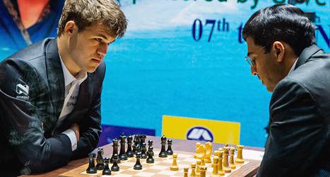 Magnus Carlsen från Norge kan bli världsmästare i schack. Foto: Erlend Aas/TT.