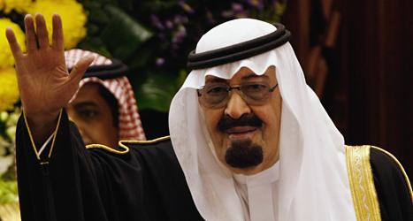 Abdullah bin Aziz al-Saud är ledare i diktaturlandet Saudiarabien.  Nu får landet vara med i en FN-grupp för mänskliga rättigheter. Foto: AP/TT.