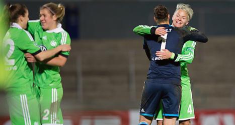 Wolfsburg från Tyskland vann båda matcherna mot Malmö i Champions League i fotboll. Foto: Andreas Hillergren/TT.