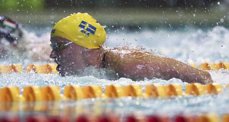 Sara Sjöström är Sveriges bästa simmare just nu. Foto: Denis Tyrin/TT