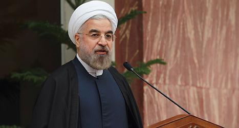 Irans president Hassan Rouhani. Foto: Muhammed Berno/TT.